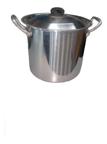 Olla 4 Litros Alta Con Tapa Aluminio