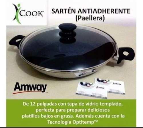 Sarten Paellera Antiadherente Icook Amway Nuevo