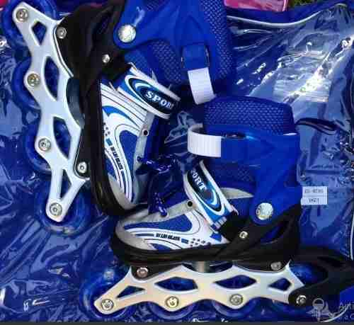 Bellos Patines Lineales Ajustables Kit Solo De Azul