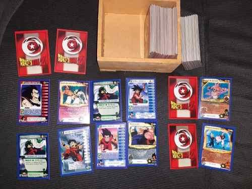 Cartas De Dragon Ball Z Mas De 100 Con Caja De Madera