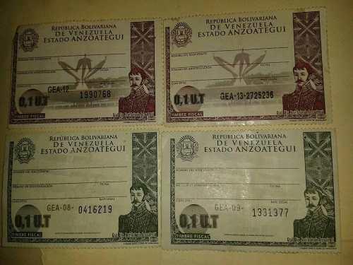 Estampillas /timbres Fiscales Actuales