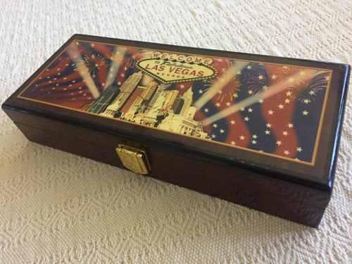 Set Cartas, Fichas Pro 11,5gr 100 Y Caja Poker Las Vegas