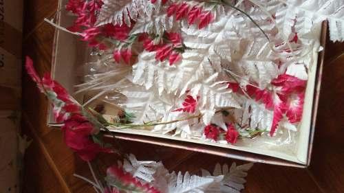 Adorno Para El Arbol De Navidad Hojas Y Flores Surtidas