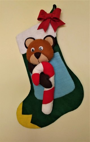 Botas Colgantes De Navidad Elaboradas A Mano 10dls