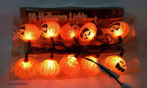 Luces 10 Bombillos Color Naranja, Halloween Lights, Import