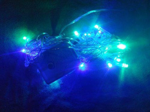 Luces De Navidad Led 40 Y 100 Luces Blanca Color Con Control