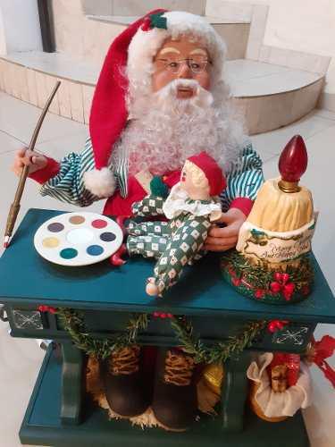 Santa Electrico Movimiento Navidad San Nicolas Luces Sonido