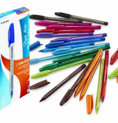 Caja De Bolígrafos De Colores Varios