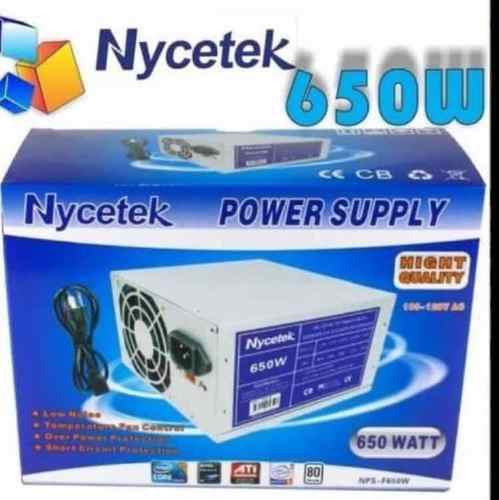 Fuente De Poder 650w Con Cable Para Pc