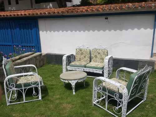Juego De Muebles Para Jardín En Hierro Forjado