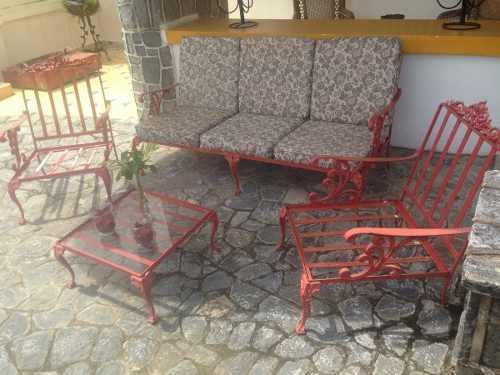 Juego De Muebles Para Terraza O Jardín En Hierro