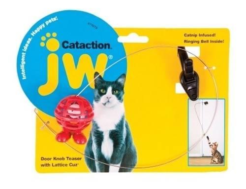 Petmate Jw Juguete P Gatos Cataction Pelota Plumas Y Campana