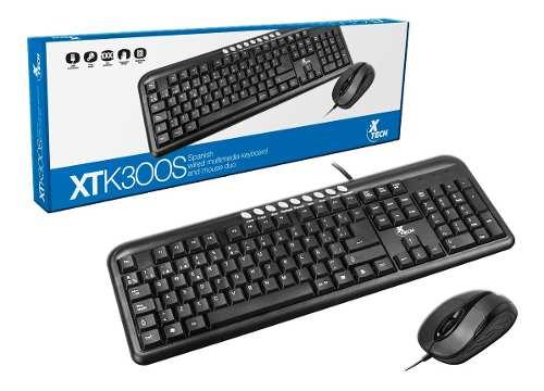 Kit Combo Teclado Y Mouse Xtech Economico Usb Pc Laptop Bagc