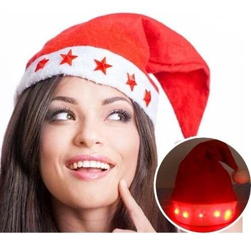 Gorro Santa Claus Navidad Con Luces Led