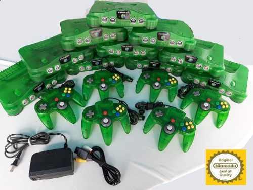 Nintendo 64 Funtastic Jungle Green Verde + Control + Cables