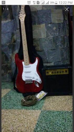 Venta De Guitarra Electrica Black Hawk Poco Uso Como Nueva