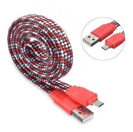 Cable Micro Usb Nylon Celular 1 Mt Carga Rapida Samsung C645