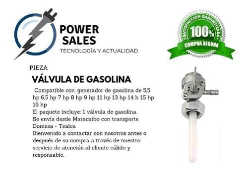 Llave Válvula Gasolina Para Planta Electrica 13 Hp