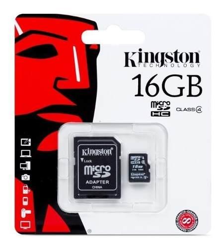 Memoria Micro Sd 16 Gb Kingston Clase 4