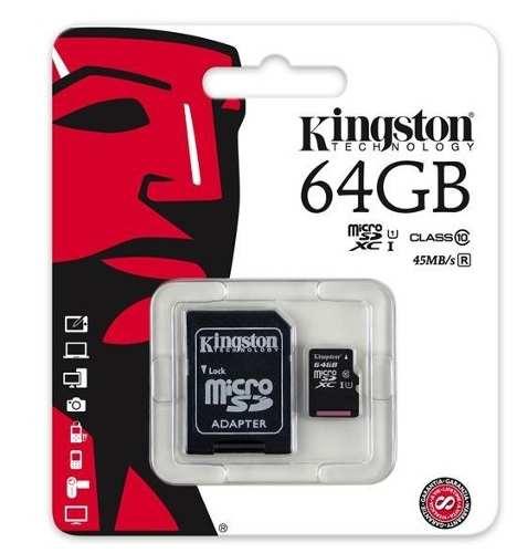 Memoria Micro Sd 64gb Clase 10 G2 Kingston Adaptador Blister