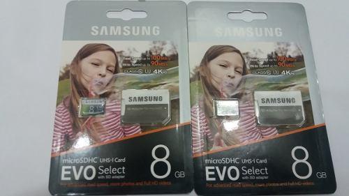 Memoria Micro Sd De 8 Gb Marca Samsung, Sellada En Blister.