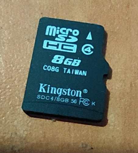 Memoria Micro Sd Kingston 8gb (6 Vrdes)