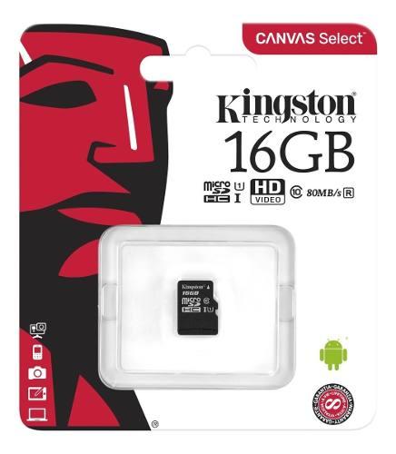 Memoria Micro Sd Kingston De 16 Gb Clase 10