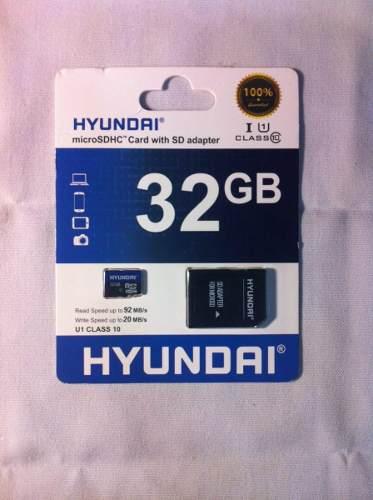Tarjeta Micro Sdhc Hyundai Con Adaptador 32gb