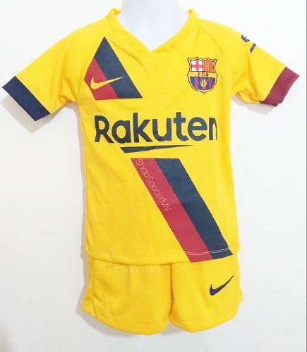 Uniforme De Fútbol Barcelona Messi Niños Visitante
