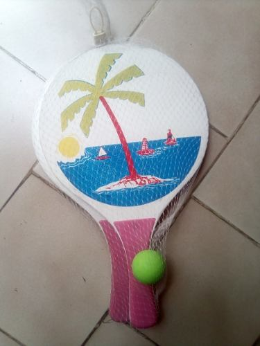 Raquetas De Madera Ping Pong De Playa