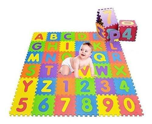 Alfombra De Foami Para Niños Bebes 30x30 10 Piezas