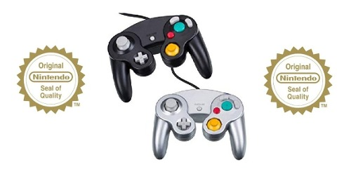 Control De Gamecube Silver Y Negro 100% Original A Toda Prue