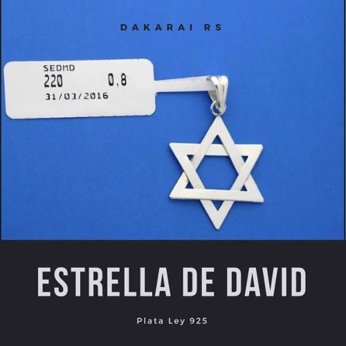 Dije Estrella De David Mediana Plata Ley 925