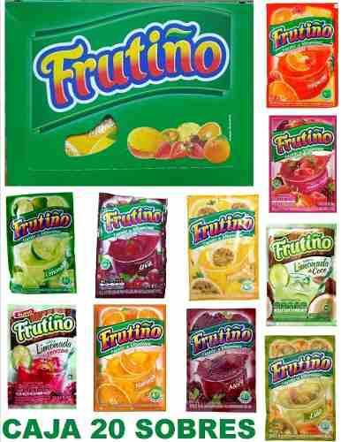 Frutiño, Bebida Instantánea En Sobres, Caja X 20 Unidades