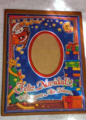 Porta Retrato Navidad Set De Dos (2) En Mdf