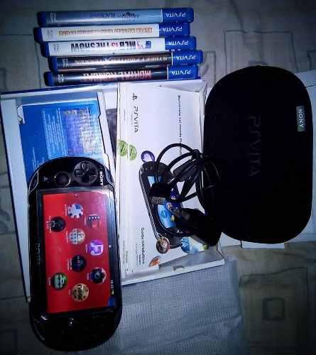 Psvita + Memoria De 4gb + 5 Juegos Originales + Forro