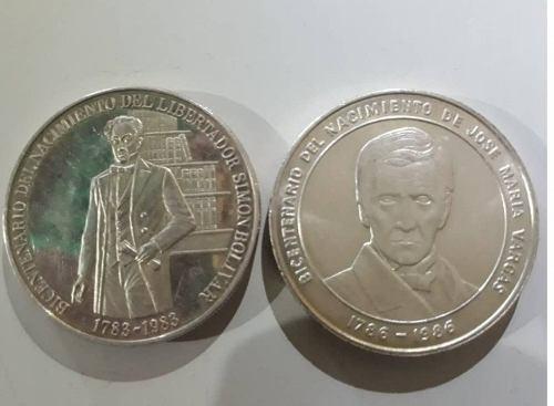 Moneda D Plata Bicentenario Simon Bolivar Y Jose Maria Varga