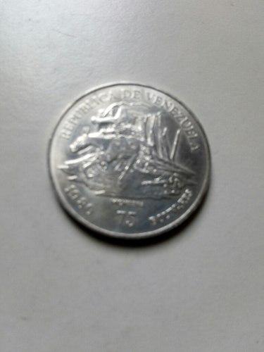 Moneda De Plata 75 Bs Conmemorativa Antonio Jose De Sucre
