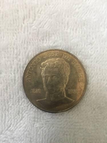 Moneda Plata Antonio José De Sucre