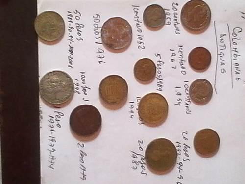Monedas Antiguas De Colección Colombianas Varios Años