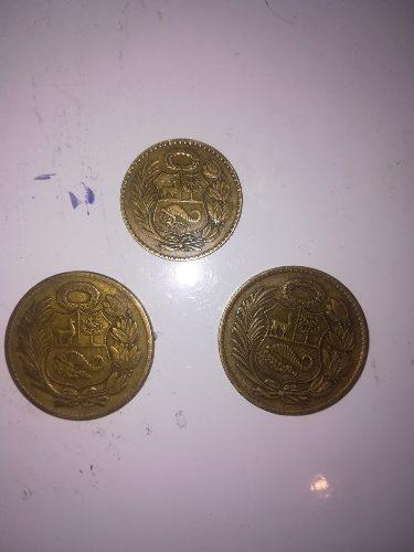 Monedas Antiguas De Un Sol De Oro Y 1/2 Sol De Oro