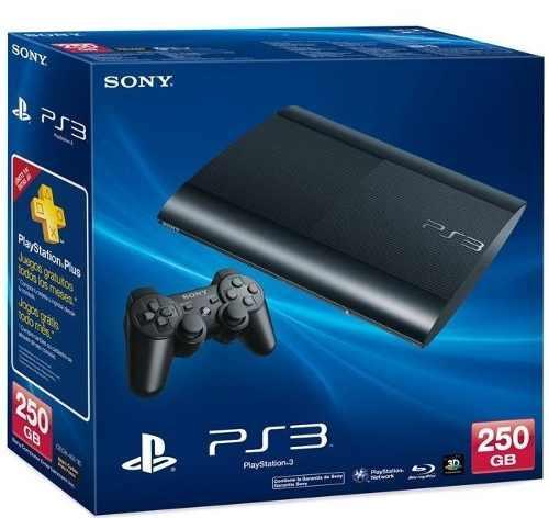 Sony Playstation 3 Slim De 250 Gb + 2 Controles + 20 Juegos