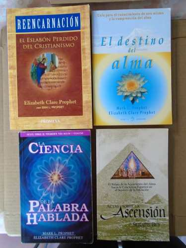 Lote 4 Libros De Las Enseñanzas De Los Maestros Ascendidos.
