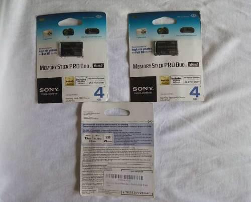 Memory Stick Pro Duo Mark2 4gb Sony