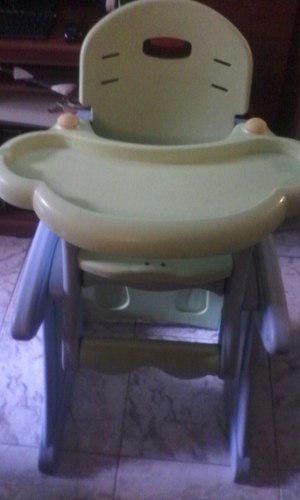 Silla De Comer Para Bebes Doble Bandeja. Multifuncional