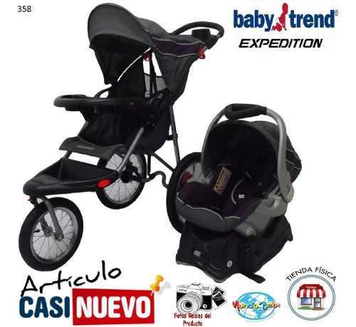 Coche Y Portabebe 3 Ruedas Babytrend Expedition Impecable.-