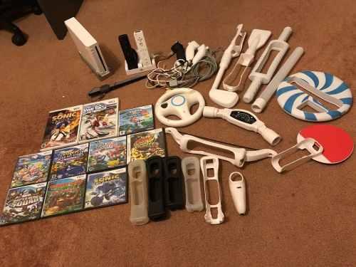 Nintendo Wii Como Nuevo Con 2 Controles, 10 Juegos Y Mas