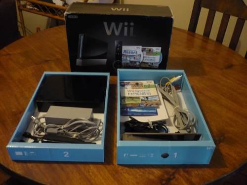 Nintendo Wii Edición Limitada Color Negro Consola Sin