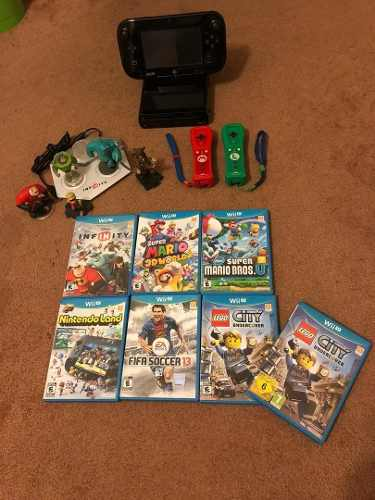 Nintendo Wii U Como Nuevo Con Dos Controles Y 7 Juegos