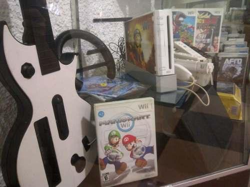 Vendo Wii, 4 Controles,accesorios,volante Y Guitarra Juegos
